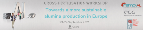 Towards a more sustainable Alumina production in Europe, online workshop, 23-24 September 2021