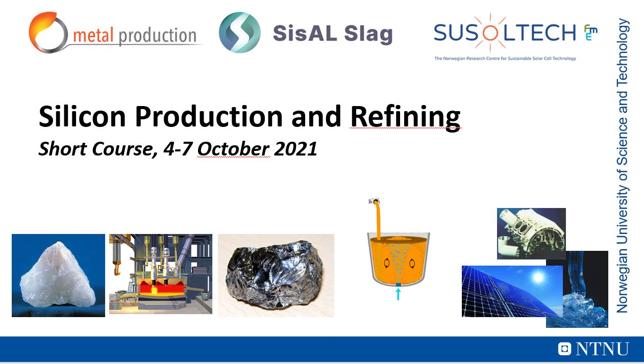 """Intensive couse on """"Si Production and Refining"""""""